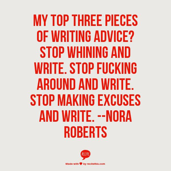 nora roberts advice